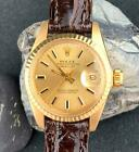 ROLEX LADIES DATEJUST 18k SOLID GOLD OYSTER PERPETUAL REF 6917