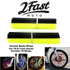2FastMoto Spoke Wrap Kit Yellow Black Wraps Covers Skins Color Husqvarna Gas Gas