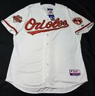 Authentic! Majestic SIZE 52 2XL, BALTIMORE ORIOLES HOME WHITE, COOL BASE Jersey