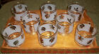 8 Vintage Libby 8 Oz. Frosted Silver Leaf Glasses