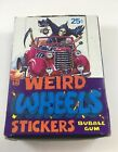 1980 Topps Weird Wheels Stickers Empty Box (LB01)