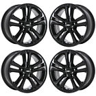 16 CHEVROLET CRUZE GLOSS BLACK WHEELS RIMS FACTORY OEM SET 5748 EXCHANGE
