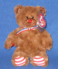 TY UNCLE SAM (BROWN) the BEAR BEANIE BABY - MINT with MINT TAG