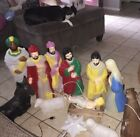 TESTED  NATIVITY BLOW MOLD SET MANGER CHRISTMAS YARD LIGHTED DECOR