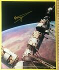 Cosmonaut GStrekalov 1940 2004 signed Soyuz MIR docked on orbit photo