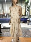 Lim's Vintage Intricate Battenberg lace Sleeveless Midi Dress Natural One Size M