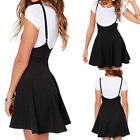 Women Girls Skater Skirt Pleated Flared Circle Elastic Stretch Waist USA