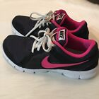 Nike Flex Experience RN 2 sneakers black and pink girls size 7y