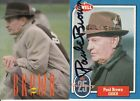 PAUL BROWN 1993 SUNOCO CLEVELAND BROWNS HALL OF FAME HEAD COACH CARD WITH EXTRA