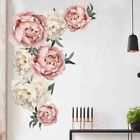 Peony Rose Flowers Wall Sticker Art Waterproof Decals Kids Room Home Decor Gift