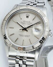 Rolex Datejust Turnograph Thunderbird Silver Tapestry Dial 16264 - WATCH CHEST