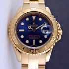 Rolex Lady Yachtmaster Yellow Gold Blue Baton Dial 69628 - WATCH CHEST