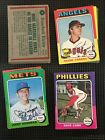 1975 TOPPS BASEBALL YOU PICK SET BUILDER LOT 20 PICKS VGEX EX RANGE