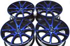 4 New DDR ST15 15x6.5 4x100/114.3 40mm Black/Polished Blue 15