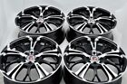 4 New DDR R25 17x7 4x100/114.3 40mm Black/Machined Wheels Rims
