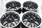 4 New DDR R1 16x7 5x100 1143 35mm Black Polished Lip 16 Wheels Rims