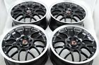 4 New DDR R1 16x7 4x100/114.3 35mm Black/Polished Lip 16