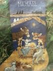 NEW Nativity Christmas Stocking Dimensions 1996 SEALED BAG linda powell