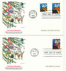 1993 FDC Xmas Rein Deer Booket+Sheet+Imperferate Fleetwood Cachet