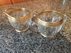Glass With Gold Trim Sugat And Creamer Set