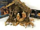 Fontanini By Roman Nativity Lot Stable set 54518 5 3pc + Sheep
