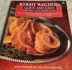 Quick and Easy Menu Cookbook by Inc Staff Weight Watchers International 1989
