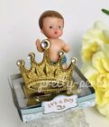 1PC Baby Shower King prince Boy Cake Topper Decoration Figurines Party Favors
