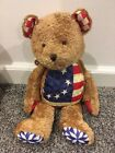 Jim Shore Boyds Teddy Bear Collectible Americana Flag
