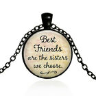 Best Friends Are The Sisters We ChooseBest Friendship Necklaces black