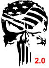Punisher Distressed American Flag Decal Car Truck Vinyl Sticker Chevy Ford Ram