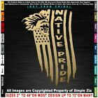 Native American Tattered Flag Chief Apache Navajo Pueblo Hopi Zuni Sticker Decal