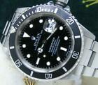 Rolex Men's Steel 16610 Submariner Black Dial Boxes Booklets Tags