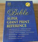 Holman KJV Super Giant Print Reference Bible Classic Burgundy Leather