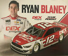 SIGNED 2019 RYAN BLANEY DEX IMAGING 12 NASCAR MONSTER ENERGY POSTCARD