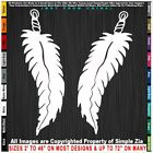 Native American Two Feathers Southwestern Eagle Sticker Decal