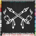 Native American Two Peace Pipes Sticker Decal