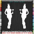 Native American Two Girls with Tomahawks Sticker Decal