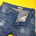 LEVIS Made Crafted Italy 32 Straight Designer Jeans Button Fly Navy Tab Denim