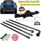 Spare Tire Tool Kit Lug Wrench and 2T Scissor Jack Fit For 2004 2014 Ford F150