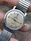 1950s Vintage Roamer Rotopower Automatic Mens Watch Steel Case 34mm Swiss