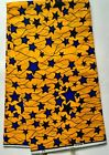 African Fabric Ankara Marigold Blue Black Celebrity YARD or WHOLESALE