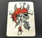 Vintage 1986 Zorlac Pirate Skull  Crossbones Skateboard Deck Sticker Skating