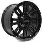4 NEW 17x9 6x1397 6x135 IWS 5006 Painted Black Wheels Rims Ford Chevy Toyota 12