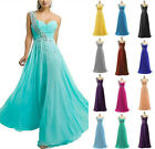 Women Chiffon Long Prom Cocktail Party Ball Gown Evening Bridesmaid Dress ZG9