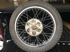 1977/78 Kawasaki KE125 Rear wheel and tire complete with sprocket and brake