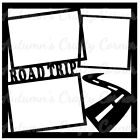 Road Trip Frames Premade Scrapbook Page Overlay Die Cut Choose a Color