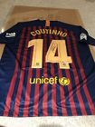 PHILIPPE COUTINHO Signed FC BARCELONA #14 NIKE Jersey BECKETT COA AUTOGRAPH XL