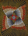 African Fabric Ankara Blue Yellow Red African Gladiator YARD or WHOLESALE