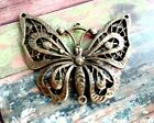 Large Butterfly Pendant Connector Link Antiqued Bronze Spring Charm Chandelier C