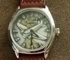 Mens Airplane vintage Watch Made in Japan COLLECTABLE  Pilot gift 2 tone